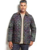 Barbour Quilted Plaid Tissington Jacket - Lyst