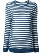 T By Alexander Wang Striped T-Shirt - Lyst
