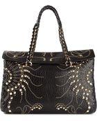Roberto Cavalli Studded Shoulder Bag - Lyst