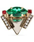 Iosselliani Pyramid Crystal Ring - Lyst