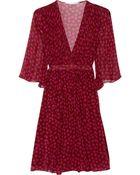 Diane von Furstenberg Printed Silk-Georgette Wrap Dress - Lyst