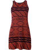 Tess Giberson Optical Pattern Woven Dress - Lyst