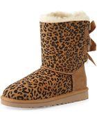 Ugg Kids Leopard-Print Bailey Boot - Lyst