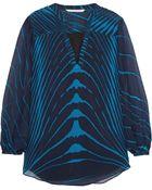 Diane von Furstenberg Tanyana Printed Silk-Chiffon Top - Lyst