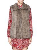 H Brand 'Primrose' Rabbit Fur Knit Gilet - Lyst