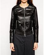 Muubaa Orva Leather Bomber Jacket - Lyst
