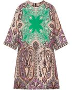 Etro Printed Silk-Crepe Dress - Lyst