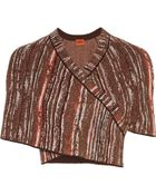 Missoni Metallic Crochet-Knit Shrug - Lyst