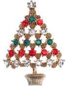 Jones New York Gold-Tone Christmas Tree Pin - Lyst