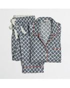 J.Crew Factory Printed Flannel Pajama Set - Lyst