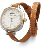 Shinola The Gomelsky Double Wrap Strap Watch, 36Mm - Lyst