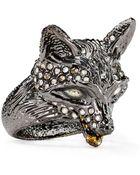 Alexis Bittar Crystal-Encrusted Fox Ring - Lyst