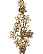 Oscar de la Renta Gold- -Plated Crystal Clip Earrings - Lyst