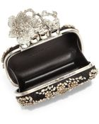 Alexander McQueen Embellished Satin Knuckle Box Clutch - Lyst