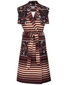 Kenzo Mixed Print Belted Dress - Lyst