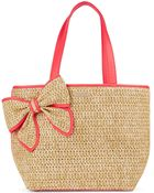 Kate Spade Woven Bow-Accented Tote - Lyst