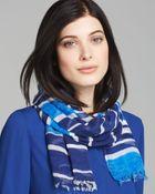 Kate Spade Capri Striped Scarf - Lyst
