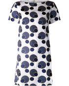 Suno Embroidered Polka Dot Dress - Lyst
