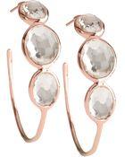 Ippolita Rose Clear Quartz Hoop Earrings - Lyst