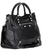 Balenciaga Giant Velo 12 Leather Tote - Lyst
