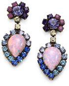 Dannijo Swarovski Crystal Earrings - Lyst