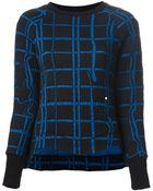 Kenzo 'Neon Plaid' Sweater - Lyst