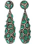 Arunashi Rose Cut Emerald Earrings - Lyst
