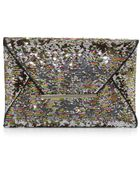BCBGMAXAZRIA Harlow Signature Sequin Envelope Clutch Bag - Lyst