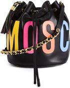 Moschino Logo-Detail Calf-Leather Bucket Bag - Lyst