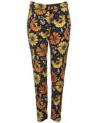 Topshop Daisy Print Cigarette Trousers - Lyst