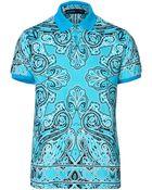 Etro Paisley Print Polo Shirt - Lyst
