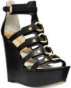 Michael Kors Michael Nadine Platform Wedge Sandals - Lyst