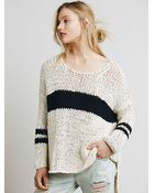 Free People Womens Striped At The Seams Pullover - Lyst