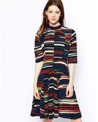 WOOD WOOD Janis Dress In Flicker Print - Lyst