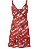 Isa Arfen Wool Guipure Lingerie Mini Dress - Lyst