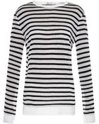 T By Alexander Wang Black-Striped Long-Sleeved Top - Lyst