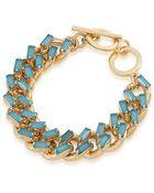 Carolee Gold-Tone Stone Toggle Chain Bracelet - Lyst