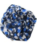 Oscar de la Renta All Over Dot Print Scarf - Lyst