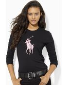 Ralph Lauren Pink Pony Long-Sleeved Tee - Lyst