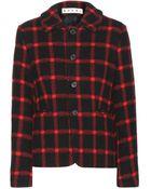 Marni Tartan Wool Jacket - Lyst