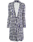 Diane von Furstenberg Printed Wrap Dress - Lyst