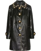Marc Jacobs Embellished Leather Coat - Lyst