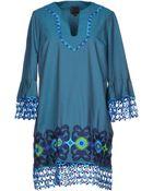 Anna Sui Short Dress - Lyst