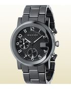 Gucci G Chrono Collection Watch In Black Ceramic - Lyst