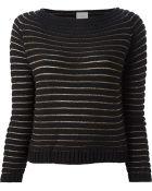 Pinko 'Praga' Metallic Knit Sweater - Lyst