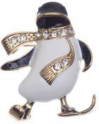 Jones New York Gold-Tone Penguin Pin - Lyst