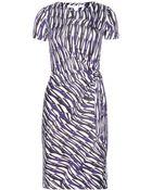 Diane von Furstenberg Zoe Printed Silk-Jersey Dress - Lyst