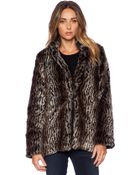 Pink Stitch Wild Faux Fur Coat - Lyst