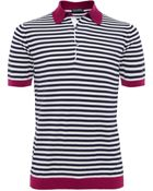 John Smedley Striped Jaedon Polo Shirt - Lyst