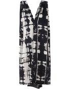 Gustavo Lins Draped Printed Jersey Dress - Lyst